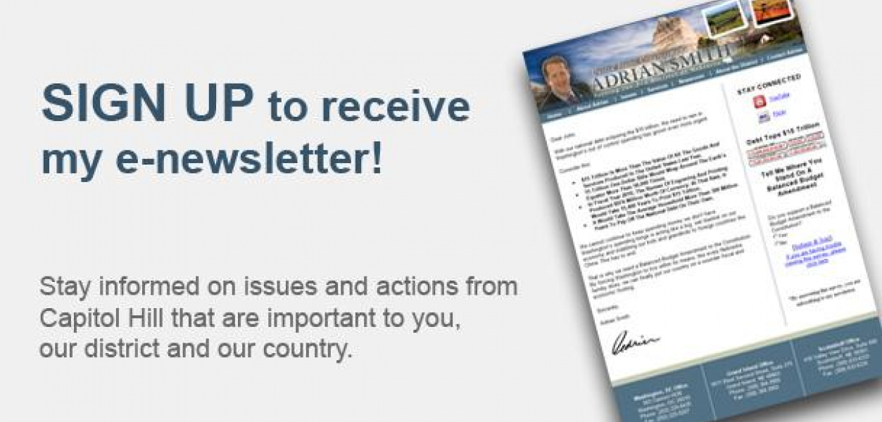 Sign up for my e-newsletter