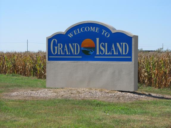 Welcome to Grand Island Sign